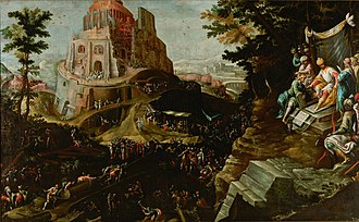 Frederik van Valckenborch - The construction of the Tower of Babel