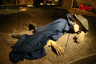 Great Northern War - Representation of Charles XII of Sweden, shot dead during the siege of Fredriksten in 1718
