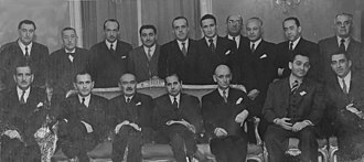 Germán Picó Cañas - In the Union Club. Seated, left to right: 4th Germán Picó; 7th Eduardo Frei Montalva. Standing: 3rd Raúl Fernández Longe; 6th Manuel Trucco Gaete.