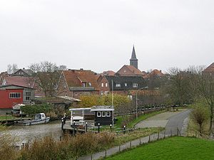 Freiburg, Lower Saxony - View of the town with Evangelical Lutheran St. Wulphardi Church.
