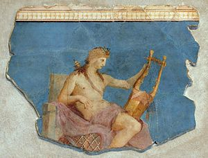 Apollo Citharoedus - Apollo Citharoedus, a wall-painting from the Palatine Antiquarium