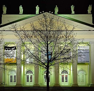 Documenta - Stadtverwaldung by Joseph Beuys, oaktree in front of the museum Fridericianum, documenta 7