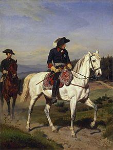 Friedrich der Große vor Schweidnitz. Gemälde von Emil Hünten im Großformat, 1865 (Quelle: Wikimedia)