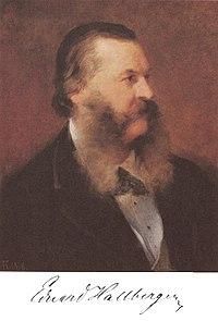 Eduard Hallberger; portrait by Friedrich August von Kaulbach (1876) (Source: Wikimedia)