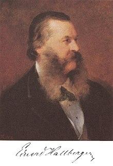 Porträt von Eduard Hallberger, Gemälde von Friedrich August von Kaulbach, 1876 (Quelle: Wikimedia)