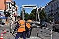 G-20 - Hamburg Schulterblatt zerstörte Infotafel 02.jpg