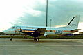 G-BMPA G.159 Gulfstream 1 EMS Cargo-GPO Datapost MAN MAR90 (6929900747).jpg