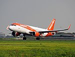 G-EZOR easyJet Airbus A320-214(WL), takeoff from Schiphol (EHAM-AMS) runway 36L pic1.JPG