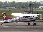G-SAUO Cessna Skywagon 185 (26264526593).jpg