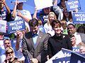 GMU Mason Votes Palin and Husband at Rally in Fairfax (2847033446).jpg