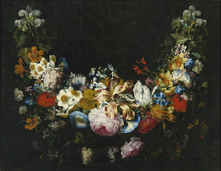 File:Gaspar Peeter Verbruggen (II) - A swag of flowers.jpg
