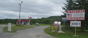 Estcourt Station, Maine - Gas station in Estcourt Station