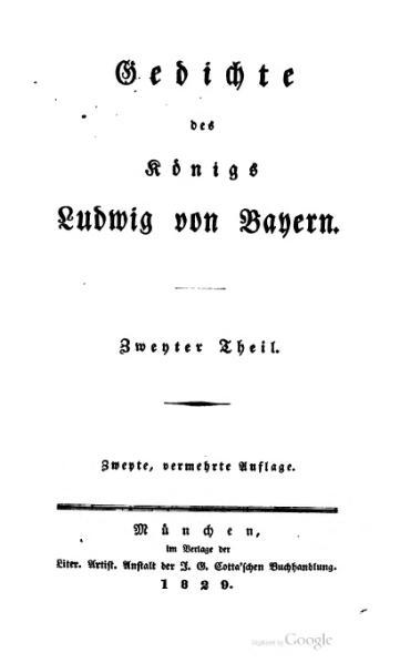 Gedichte (German Edition) Ludwig von Bayern