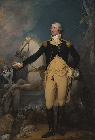 John Trumbull - General George Washington at Trenton, oil on canvas, 1792. Yale University Art Gallery