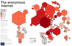 Darknet - A cartogram illustrating Tor usage