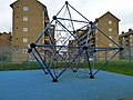 Geometric climbing frame, Woodberry Down estate - geograph.org.uk - 2260062.jpg