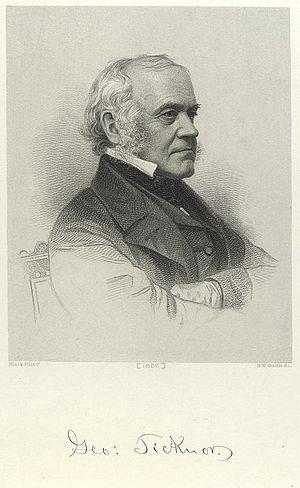 Edward Everett - Everett's friend George Ticknor (1867 engraving)