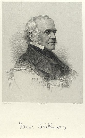 Edward Everett - Everett's friend George Ticknor (1867 engraving)