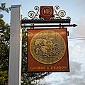 George and Dragon pub sign, Dragons Green, Shipley, West Sussex.jpg