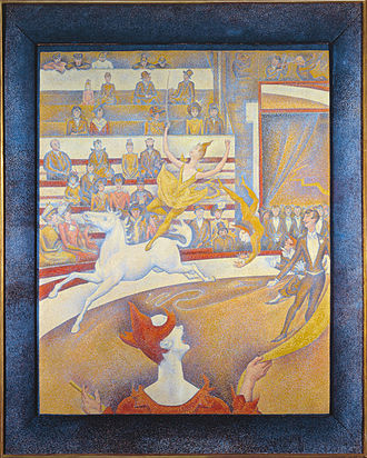 The Circus (Seurat) - Image: Georges Seurat, 1891, Le Cirque (The Circus), oil on canvas, 185 x 152 cm, Musée d'Orsay