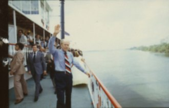 Natchez (boat) - President Ford aboard the Natchez
