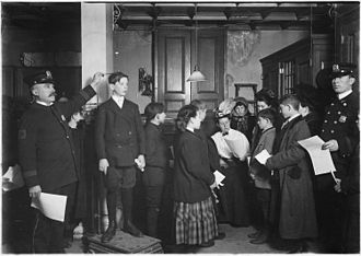 Work permit - Applying for working papers, 1908 (United States Children's Bureau)