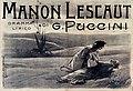 Giacomo Puccini - Manon Lescaut - poster by Vespasiano Bignami - Ricordi, Milan 1900.jpg