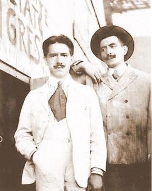 Giovanni Battista Caproni - Giovanni Caproni (left) poses with his brother, c. the early 20th century.