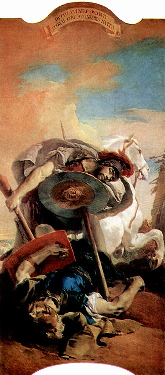 Thebaid (Latin poem) - A painting by Tiepolo showing the battle of Polyneices and Eteocles, from the Ca' Dolfin Tiepolos.