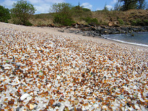 Hanapepe, Hawaii - Glass Beach, in the industrial side of Hanapepe