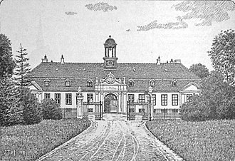 Glorup Manor - Drawing of the house from 1898