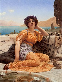 Godward With Violets Wreathed and Robe of Saffron Hue 1902.jpg