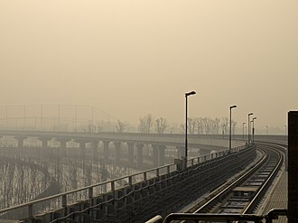 Changping line - The stretch of Changping line, south of Gonghuacheng station.