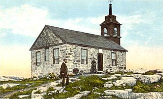 Isles of Shoals - Gosport Chapel in 1905