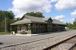 Restored train station in Gouldsboro