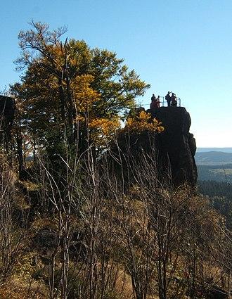 Großer Hermannsberg - The main rocks