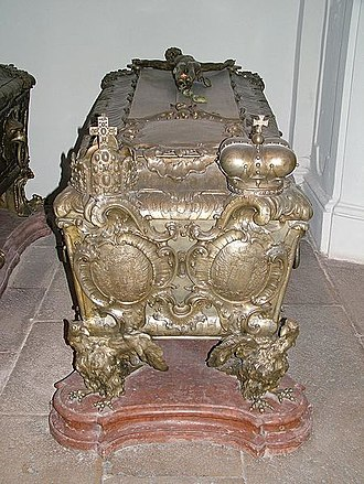 Eleonor Magdalene of Neuburg - Empress Eleonore's coffin at the Imperial Crypt, Vienna