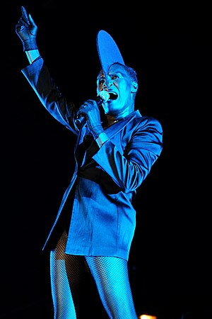 Nightclubbing (Grace Jones album) - Jones performing at the West Coast Blues & Roots Festival, 2011.
