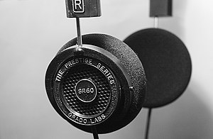 A picture of a pair of Grado SR-60 headphones ...