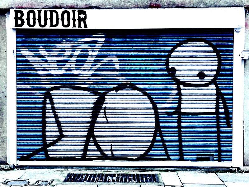 Graffiti de Stik sur Turville Street à Londres.