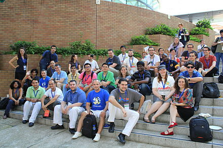 Grantmaking Lunch, Wikimania 2013.JPG