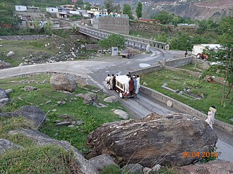 Shah Ismail Dehlvi - Image: Grave of Shah Ismail Shahid seen from the place he got martyrdom, Balakot