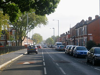 Moss Side - Great Western Street runs through the centre of Moss Side.