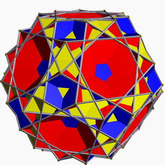 Great ditrigonal dodecicosidodecahedron - Image: Great icosicosidodecahedro n