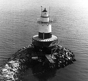 Greens Ledge Light - U.S. Coast Guard photo