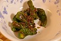 Green peppers grilled with Indian spices (2619956062).jpg