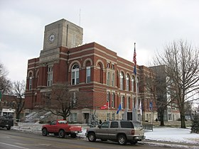 Greene County Courthouse in Bloomfield front and western side distant.jpg