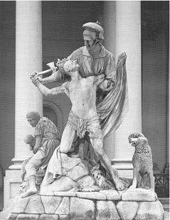 <i>The Rescue</i> (statue) Sculpture group by Horatio Greenough