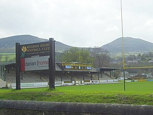 History of rugby union in Scotland - Nestling beneath the shadow of the Eildon Hills, the Greenyards at Melrose in Scotland is the original home of rugby sevens