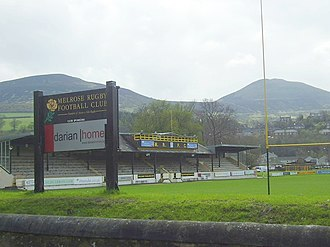 Sport in Scotland - Nestling beneath the shadow of the Eildon Hills, the Greenyards at Melrose in Scotland is the original home of rugby sevens